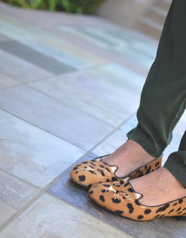 kitten leopard slippers Charlotte Olympia