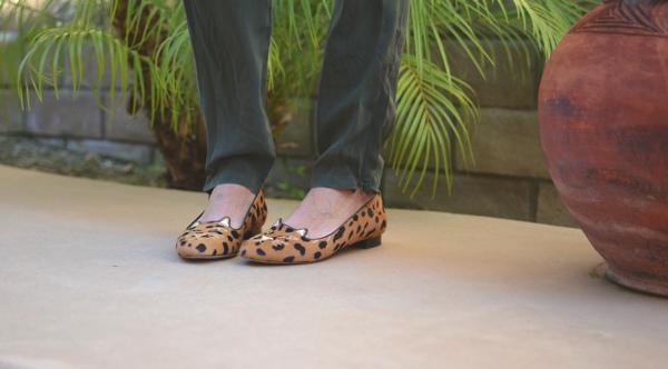 kitten slipers leopard Charlotte Olympia