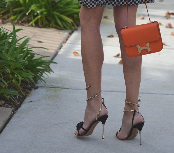 Nicholas Kirkwood sandals Hermes Constance orange bag