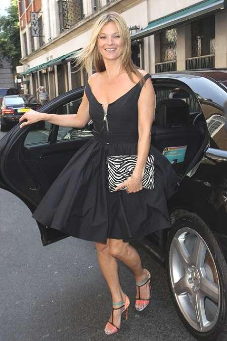 Kate Moss 2013 black 1950s dress
