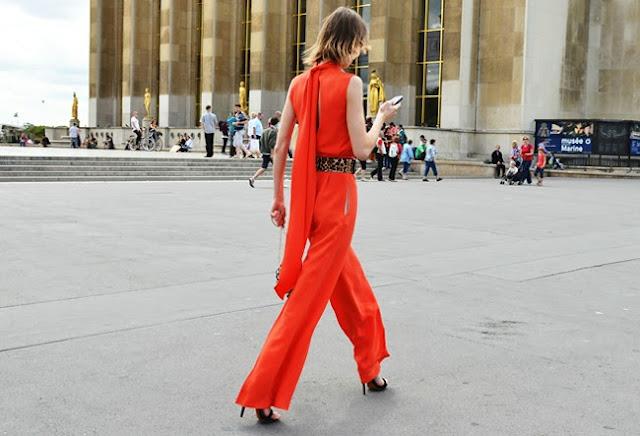 orange jumpsuit street style