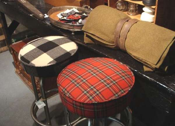 plaid stools