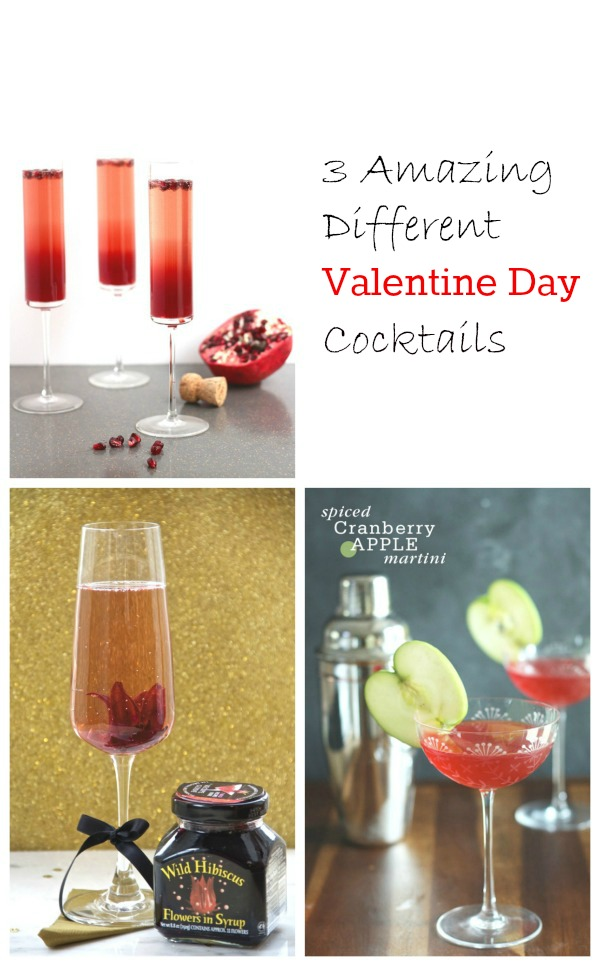 3 Amazing Different Valentine Day Cocktails