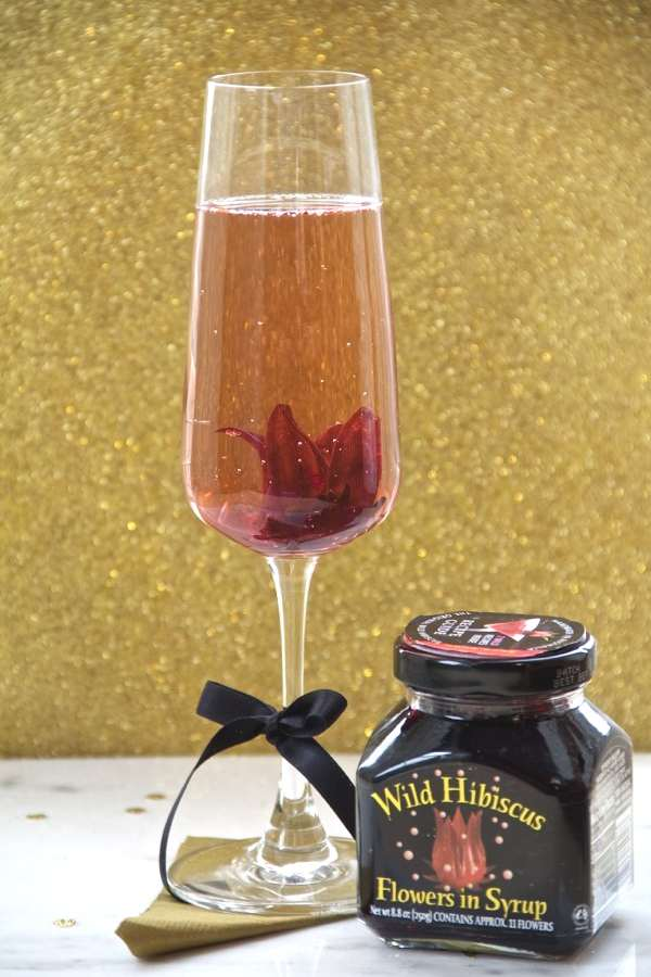 Wild Hibiscus Champagne-3 Amazing Different Valentine Day Cocktails-