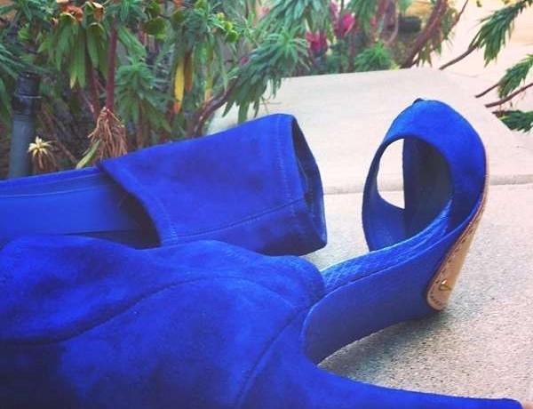 Brian Atwood cobalt blue sandals