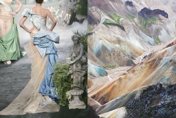 Fashion Inspiration-Christian-Dior-Haute-Couture-Spring-2005-Landmannalaugar-Iceland