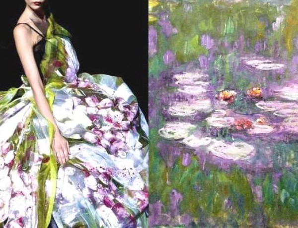 Fashion Inspiration- Dolce-Gabbana-RTW-Spring-2008-Water-Lilies-Claude-Monet-640×427