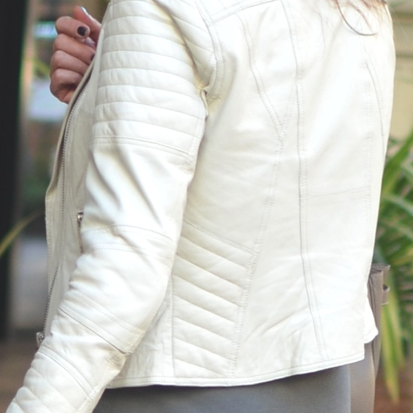 Fashion Valley Mall San Diego River Island white biker jacket