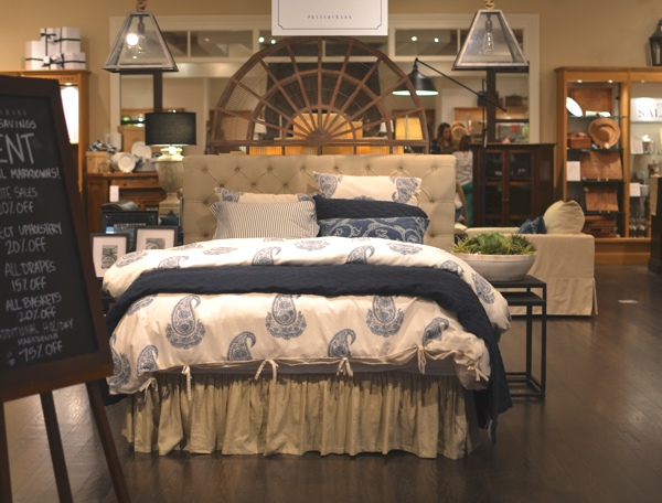 Fashion Valley Mall San Diego Pottery Barn bed