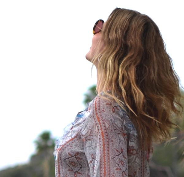 Miu Miu sunglasses, beach wave hair