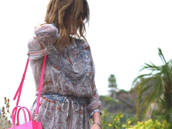 Gypsy05 silk mini dress- Rebecca Minkoff  tote
