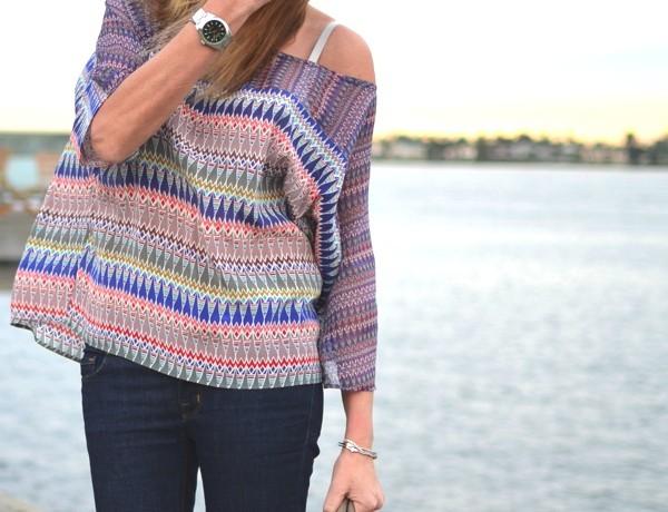 Gypsy05 Tribal silk multicolor top