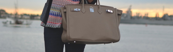 Hermes bag San Diego backdrop