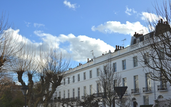 London Blue sky February Magic