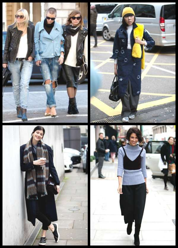 London Fashion Week street style Collage