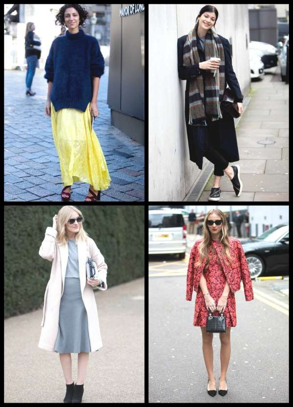 London Fashion Week street style Collage 2