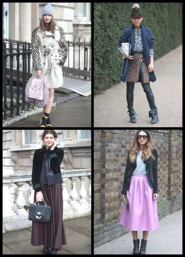 London Fashion Week street style Collage 3
