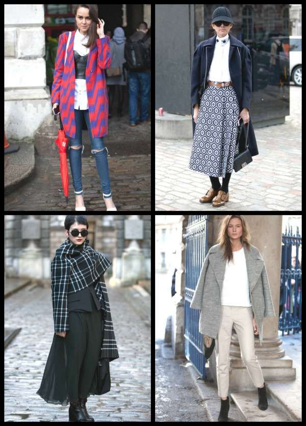 London Fashion Week street style Collage 5