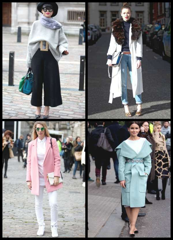 London Fashion Week street style Collage 6