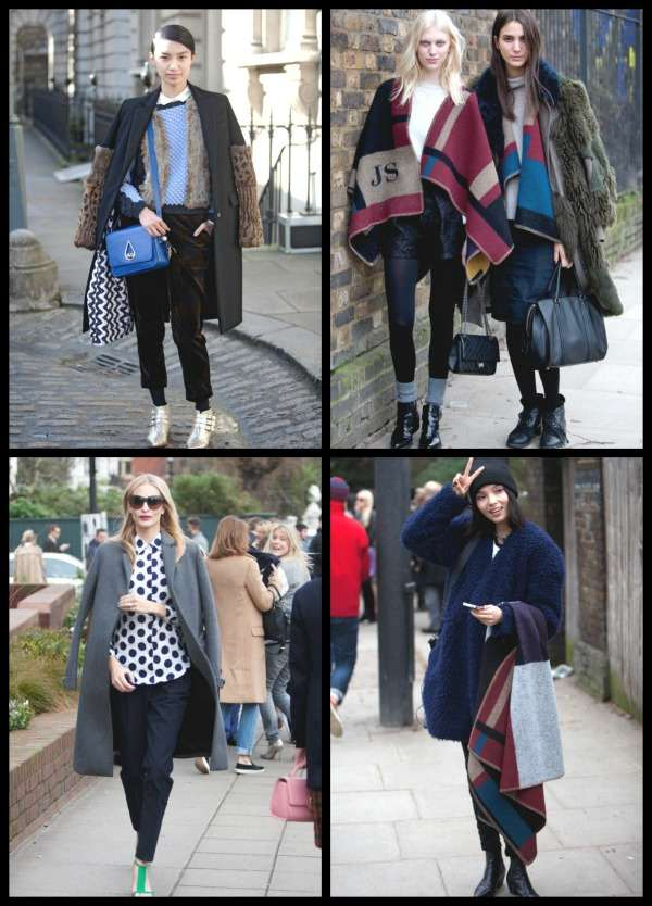 London Fashion Week street style Collage 4