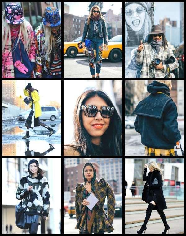 NYFW Street style collage