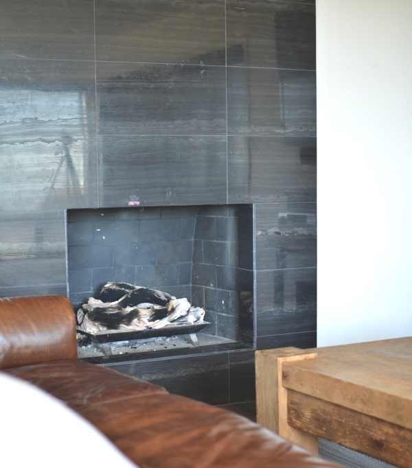 La Jolla stylish home decor stone fireplace