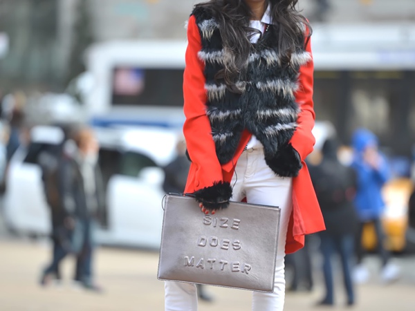 New York Fashion Week street style fun clutch
