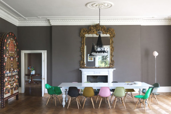 Primary and pastels dining room