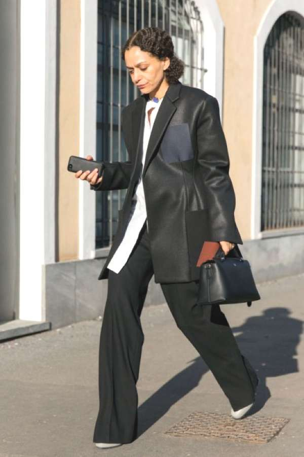 MFW street style 2014 pant suit
