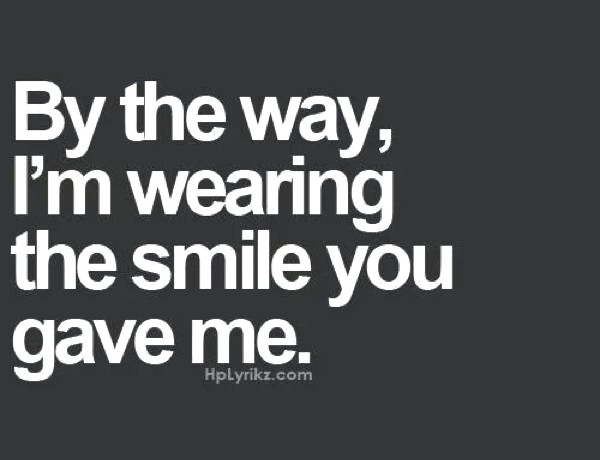 wearing a smile valentine quote