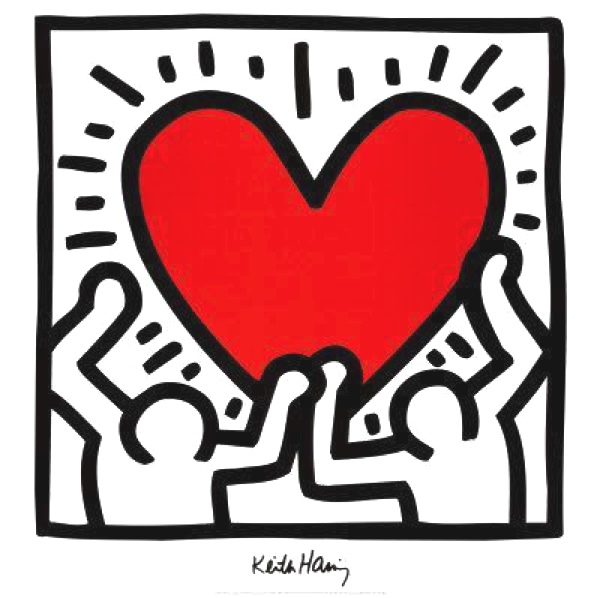 heart keith haring