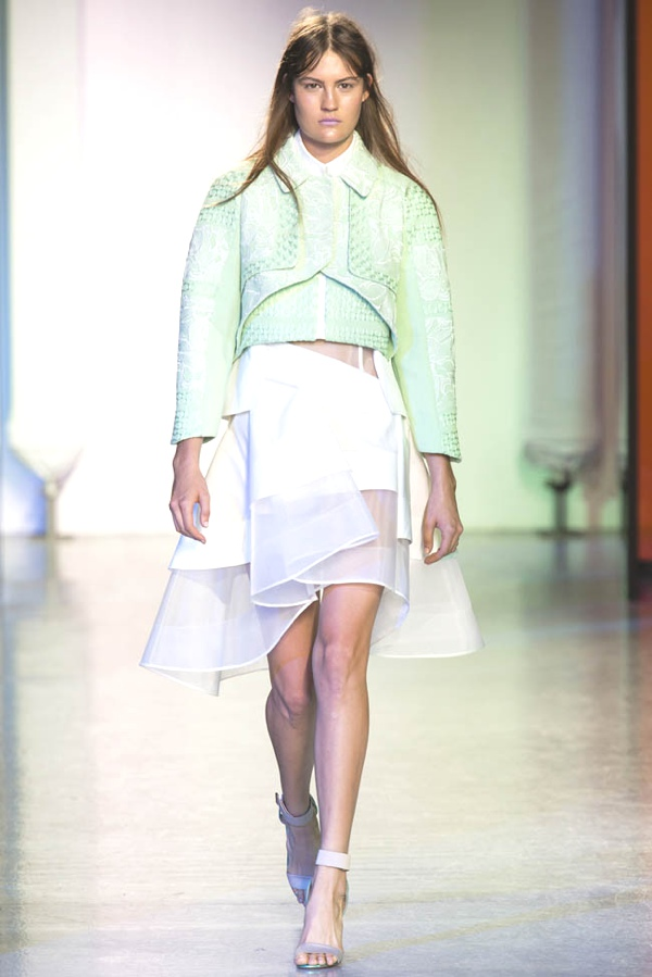 Cropped boxy jacket by Peter Pilotto