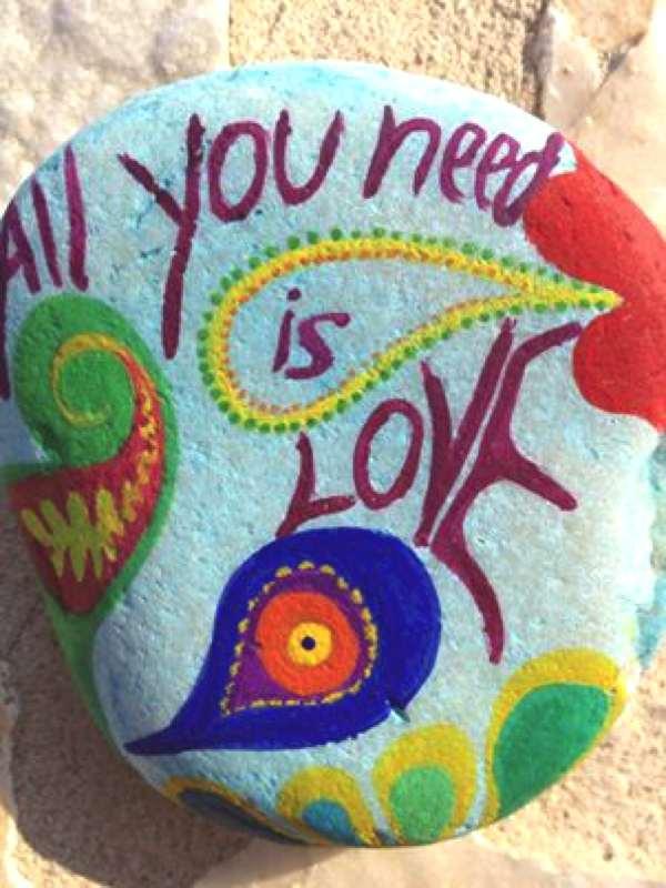 stone diy love