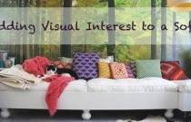 Adding Visual Interest to a Sofa
