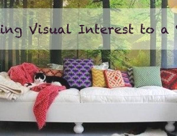 Adding Visual Interest to a Sofa pillows