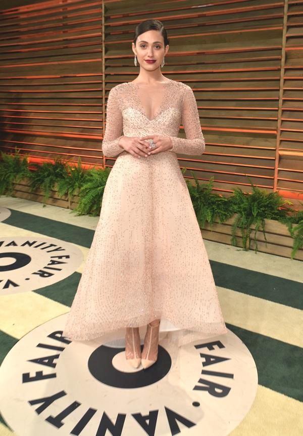 Emmy Rossum wearing