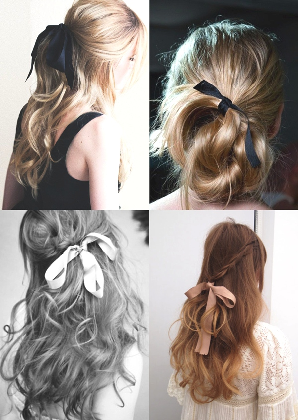 Surprising Hairstyle Trends How To Wear Ribbons In Your Hair Trendsurvivor Hairstyles For Women Draintrainus