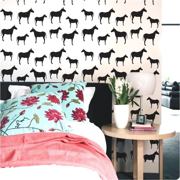 Horse print wallpaper