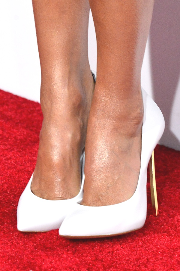 Jessica Alba  actress Casadei pumps.