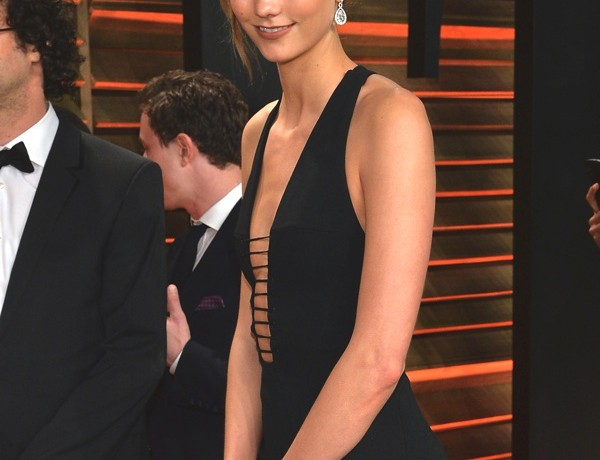 Karlie Kloss wearing Chopard at the VF Oscars Party
