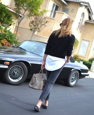 La Jolla Trendsurvivor- Skinny jeans, Jimmy Choo studded slippers, hermes bag05