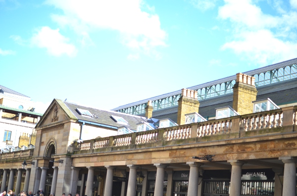 Covent Garden sunny, blue sky