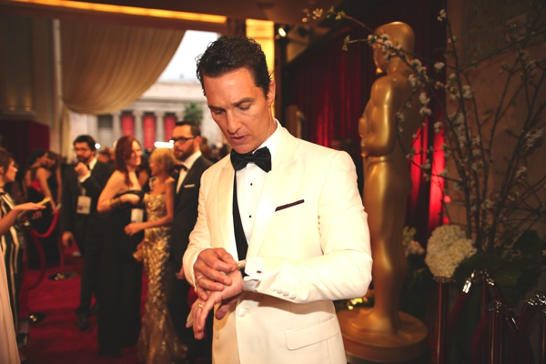 Matthew McConaughey wearing Chopard
