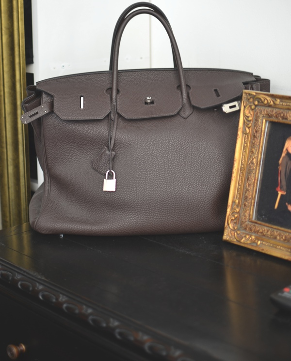 Natasa Burnett Vlacic Style brown hermes Birkin Bag