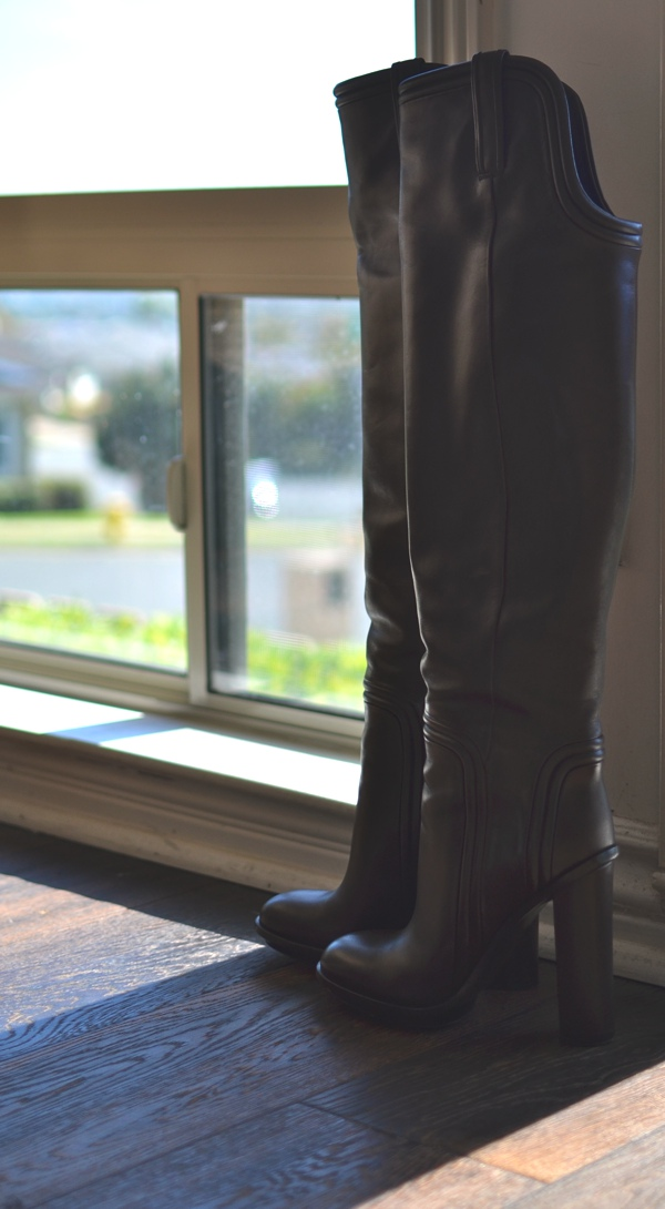 Gucci over the knee boots