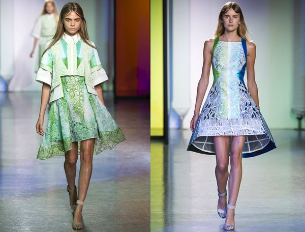 colored Lace dresses Peter Pilotto