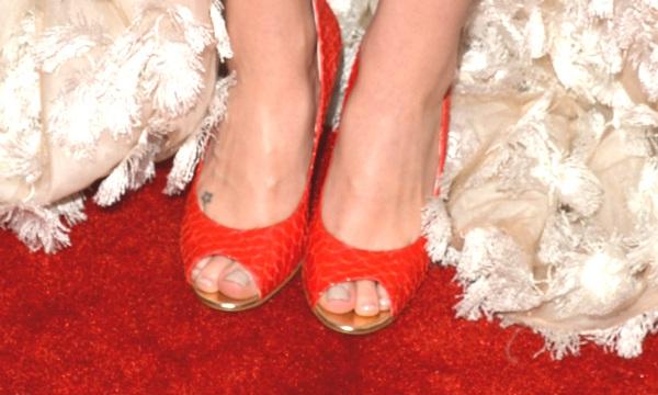 Sara Bareilles. red peep toe