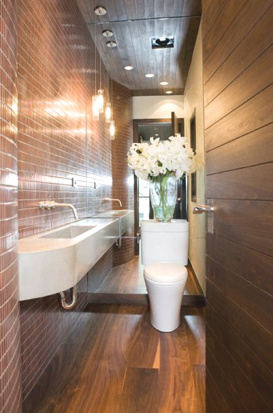 Smart Interior Design Ideas- narrow Bathroom