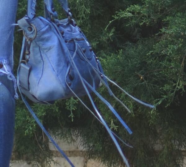 Balenciaga blue bag