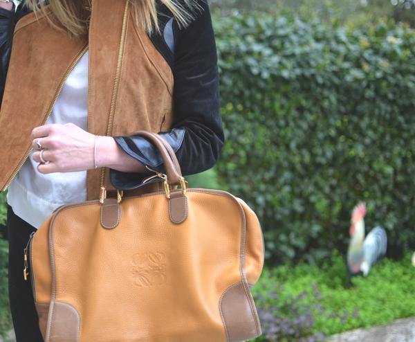 H&M Trend Color Block Leather Jacket- Loewe handbag